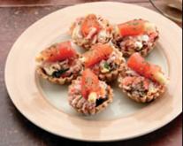Tartaletas de mejillones con ventresca de bonito