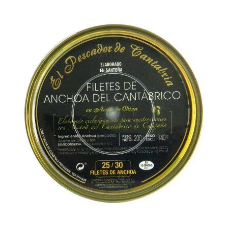 filetes de anchoa en aceite de oliva el pescador de cantabria